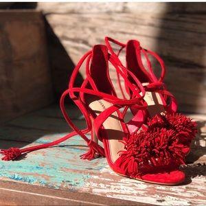 Gianni Bini brand new Pom Pom heels in Red